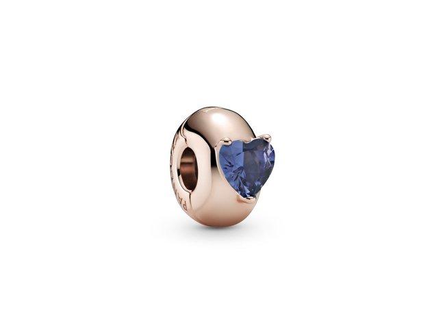 Pandora   Charm   Clip   Solitaire Coeur Bleu   789203C02
