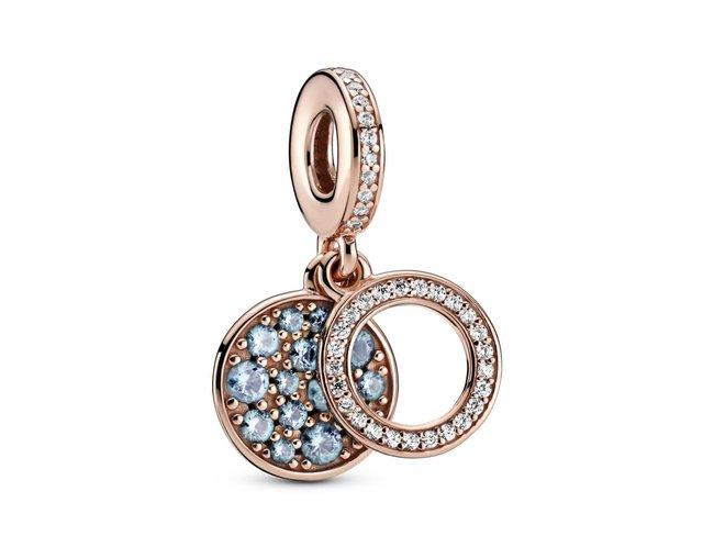 Pandora   Charm   Double Médaillon Bleu Clair   789186C03