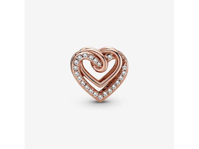 Pandora   Charm   Coeurs Entrelacés   Rosé   789270C01