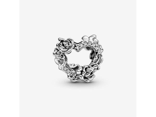 Pandora   Charm   Coeur & Roses Ajouré   799281C01