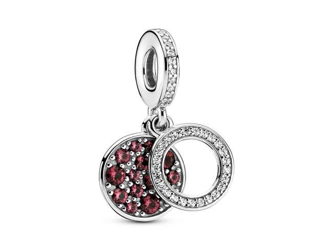 Pandora   Charm   Médaillon Rouge Scintillant   799186C03