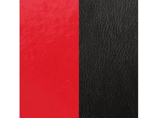 Les Georgettes | Cuirs | Boucles d'Oreilles | Rouge Vernis/Noir