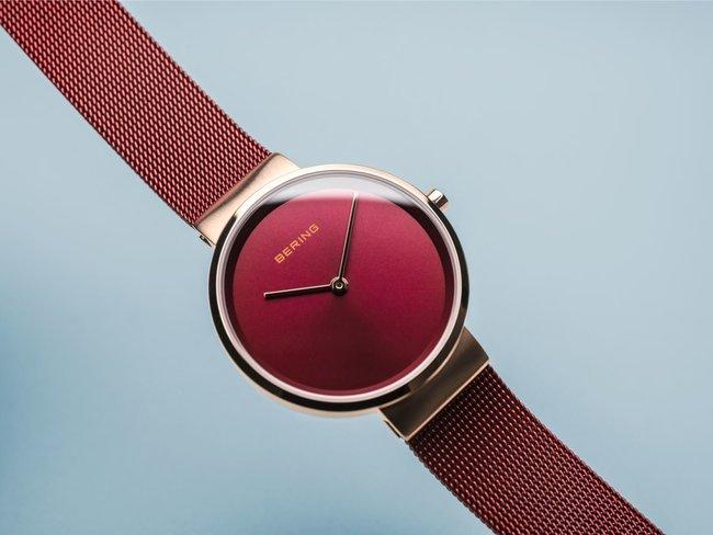 Bering   Quartz  Classic   Rosé Brillant Brossé   14531-363