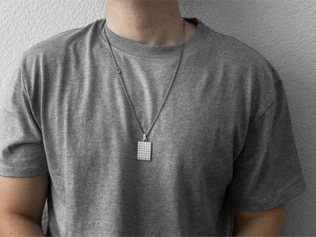 AZE Jewels | Collier | Square Identity | AZ-NL003-A