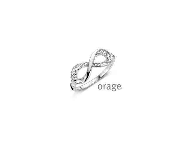 Orage   Bague   Argent   Oxyde de Zirconium  Infini  V1414