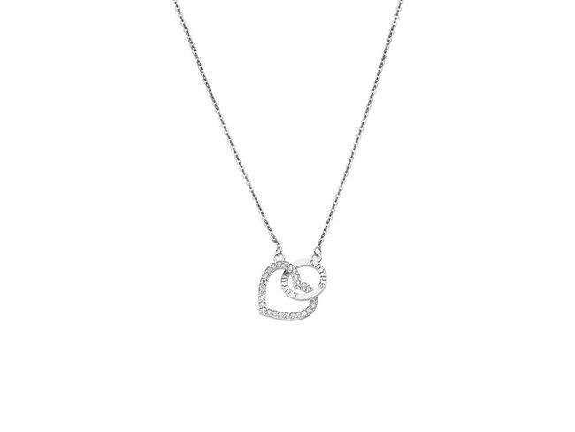 Lotus Silver | Collier | Argent | Coeur | LP1864-1/1