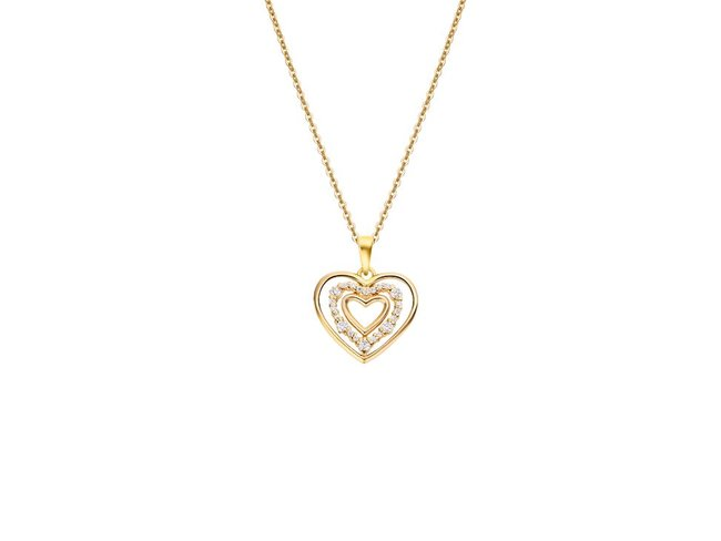 Lotus Silver | Collier | Plaqué Or | Coeur | LP3143-1/2