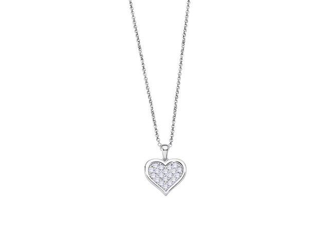 Lotus Silver | Collier | Argent | Coeur | LP3125-1/1