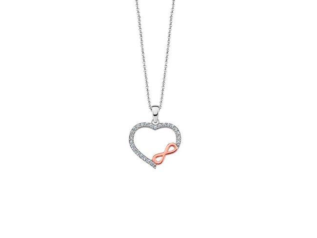 Lotus Silver | Collier | Bicolore| Coeur Infini | LP1595-1/1