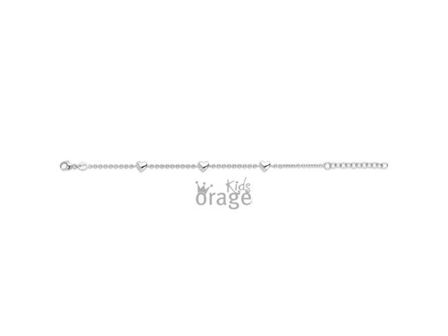 Orage Kids | Bracelet | Argent | Coeurs | K2032
