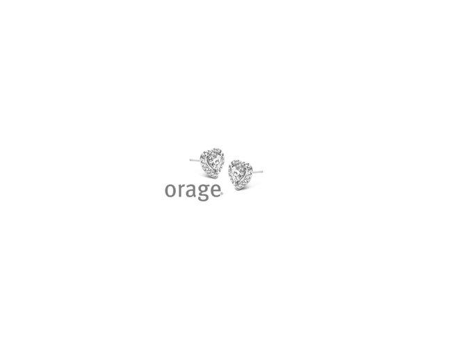 Orage | Boucles d'Oreilles | Argent | Coeur | V1450