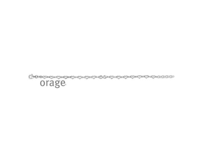 Orage   Bracelet   Argent   Coeurs   V1435
