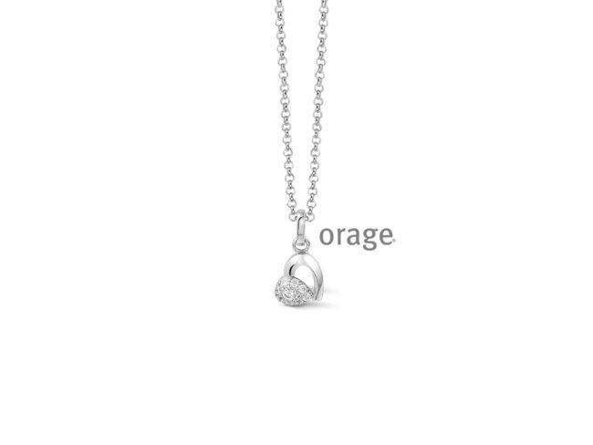 Orage | Collier | Argent | Coeur | V1418