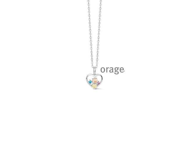 Orage | Collier | Argent | Coeur | V1407
