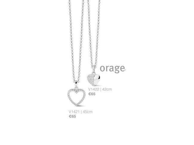 Orage | Collier | Argent | Coeur | V1421