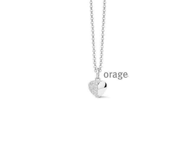 Orage | Collier | Argent | Coeur | V1422
