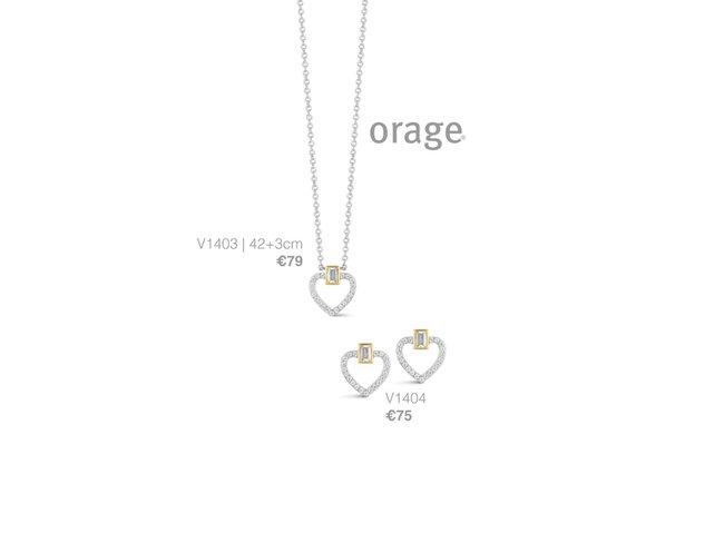 Orage | Collier | Argent | Coeur | V1403