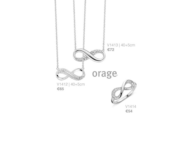 Orage | Collier | Argent | Infini | V1413