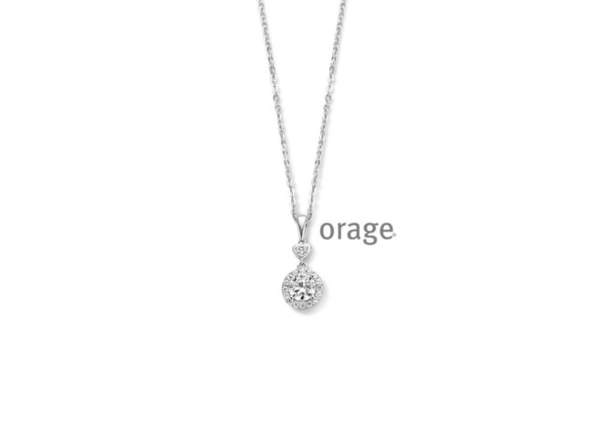 Orage | Collier | Argent | Oxyde de Zirconium | V1430