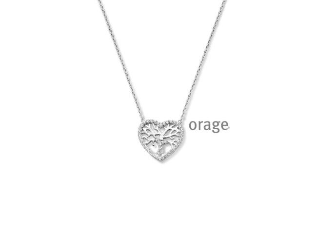 Orage | Collier | Argent | Coeur | Arbre de Vie  | V1426