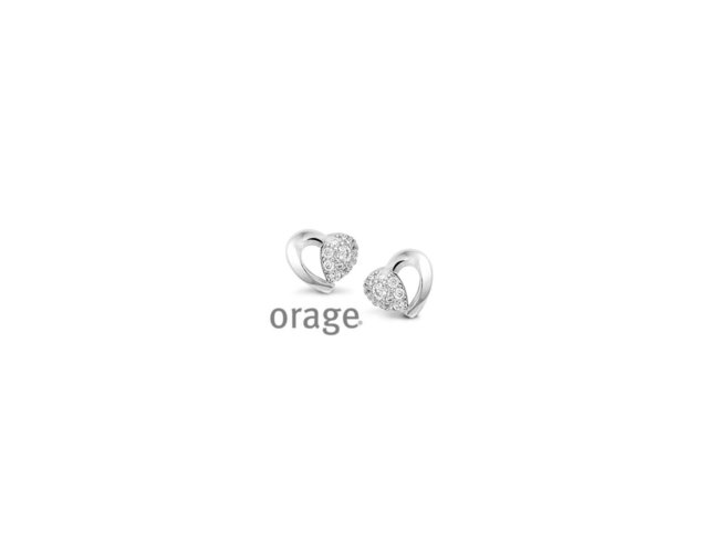 Orage | Boucles d'Oreilles | Argent | Coeur | V1419