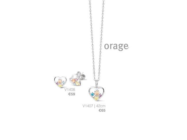 Orage | Boucles d'Oreilles | Argent | Coeur | V1408