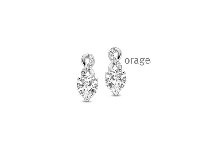 Orage | Boucles d'Oreilles | Argent | Coeur Infini | V1428