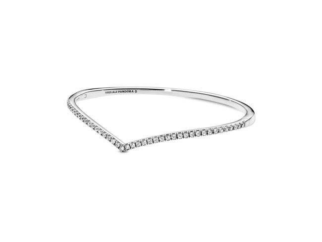 Pandora | Bracelet | Jonc Chevron Scintillant | 597837CZ