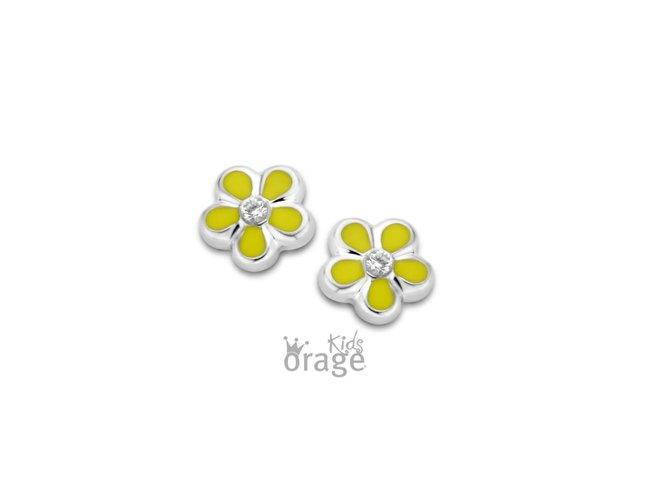 Orage Kids | Boucles d'Oreilles | Argent | Fleur | K2117