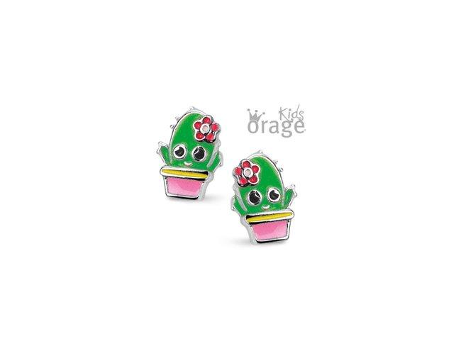 Orage Kids | Boucles d'Oreilles | Argent | Cactus | K2132