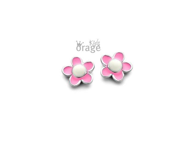 Orage Kids | Boucles d'Oreilles | Argent | Fleur | K2119