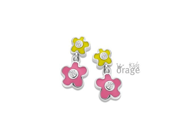 Orage Kids | Boucles d'Oreilles | Argent | Fleur | K2118
