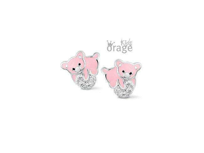 Orage Kids | Boucles d'Oreilles | Argent | Ours | K2115