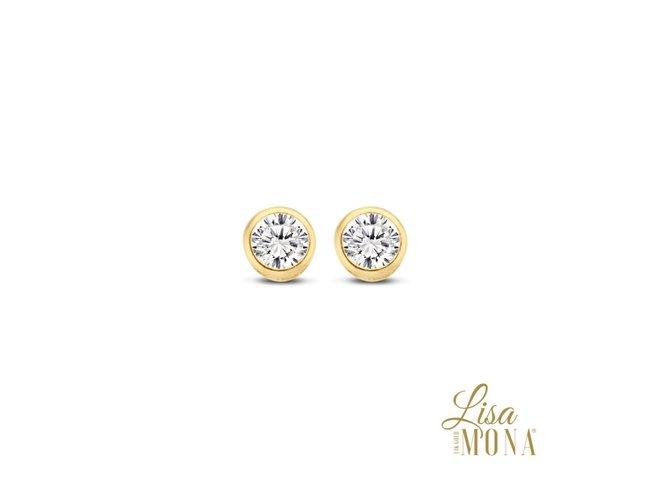 Lisa Mona 14K | Boucles d'Oreilles | Or jaune | 3.5mm | LM/G0096