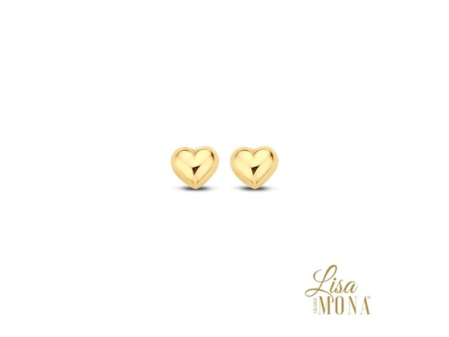 Lisa Mona 14K | Boucles d'Oreilles | Or Jaune | Coeur | LM/G0068