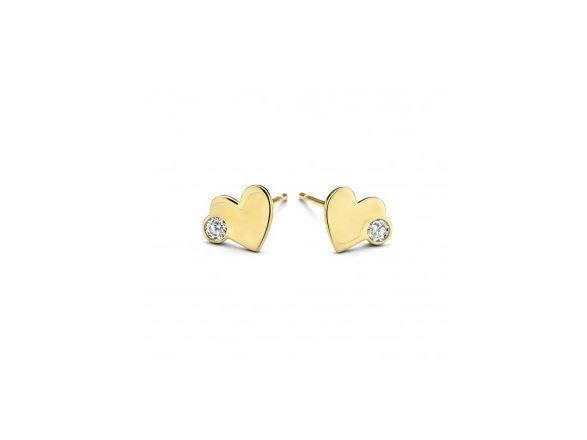 Lisa Mona 14K | Boucles d'Oreilles | Or Jaune | Coeur | LM/G0185