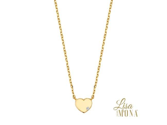 Lisa Mona 14K | Collier | Or Jaune | Coeur | LM/G0023