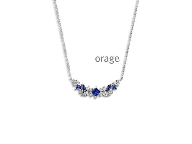 Orage | Collier | Argent | Oxyde de Zirconium | AP077