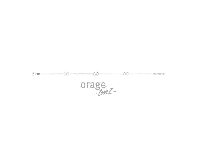 Orage   Bracelet Cheville   Argent   T441