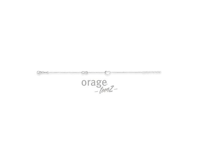 Orage Teenz | Bracelet | Argent | Infini | Coeur | T479