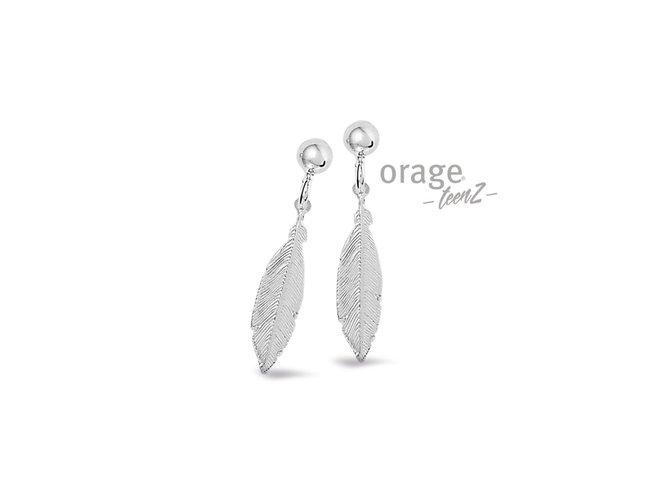 Orage Teenz | Boucles d'Oreilles | Argent | Plume | T443