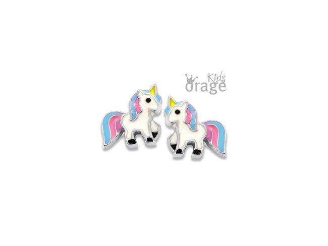 Orage Kids | Boucles d'Oreilles | Argent | Licorne | K2004