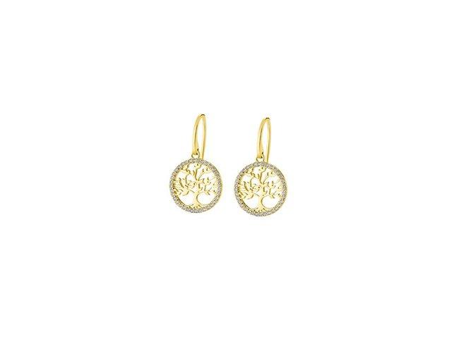 Lotus Silver   Boucles d'Oreilles  Plaqué Or   LP1746-4/2