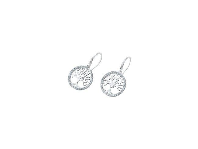 Lotus Silver   Boucles d'Oreilles Argent  Arbre de Vie LP1779-4/1
