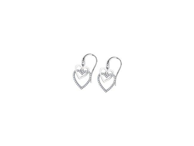 Lotus Silver   Boucles d'Oreilles   Argent   Coeur   LP1817-4/1