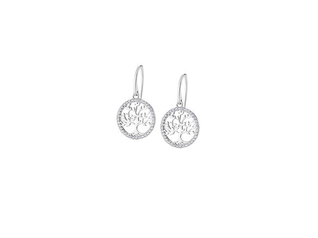 Lotus Silver   Boucles d'Oreilles Argent  Arbre de Vie LP1746-4/1