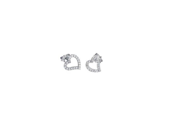 Lotus Silver   Boucles d'Oreilles   Argent   Coeur   LP1519-4/1