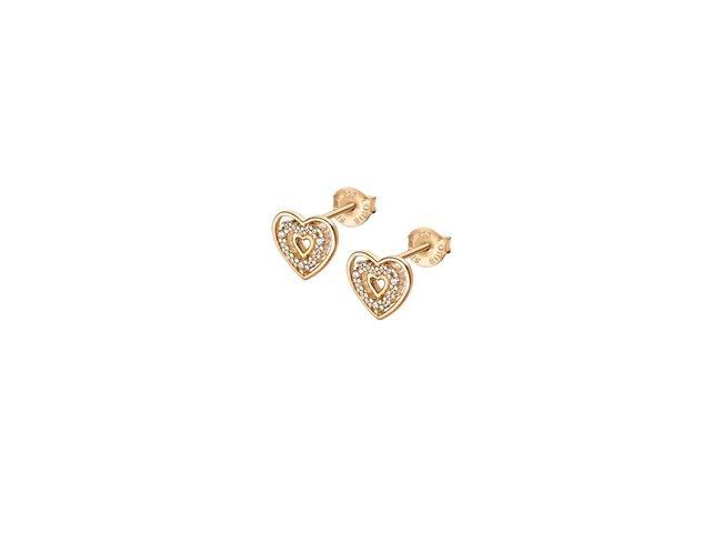 Lotus Silver   Boucles d'Oreilles   Plaqué Or   Coeur  LP3143-4/2