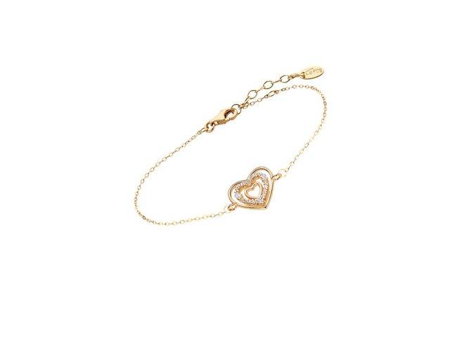 Lotus Silver | Bracelet | Plaqué Or | Coeur | LP3143-2/2