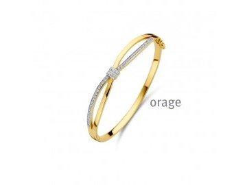 Orage   Bracelet   Plaqué Or   Oxyde de Zirconium   AR157